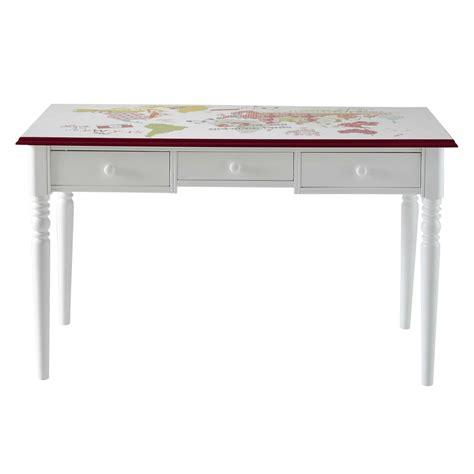 bureau en l bureau en bois blanc bureau en bois blanc l 110 cm blush