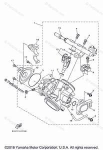 Yamaha Atv 2016 Oem Parts Diagram For Throttle Body Assy