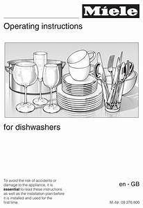 Miele Dishwasher Operating Instructions Manual Pdf