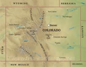 Colorado Physical Map Mountains