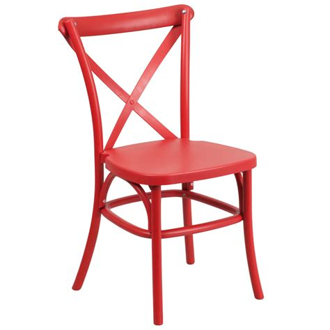 bistro style cross back indoor outdoor chair resin and