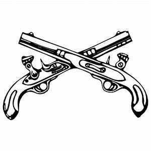 Crossed Pistols Clipart - Clipart Suggest