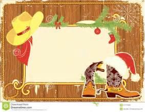 Cowboy Christmas Border Frames