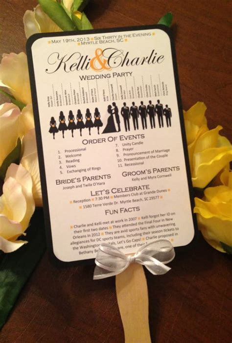 free printable wedding program a up of free wedding fan programs b lovely events