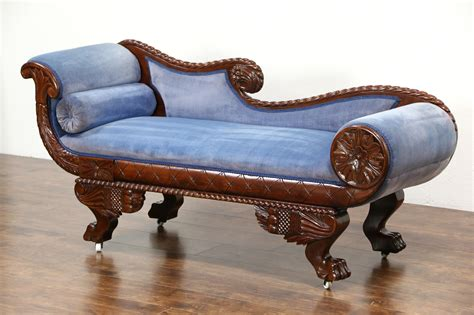 chaise empire sold empire 1895 antique chaise recamier lounge or