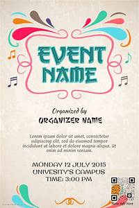 Colorful event promotion poster template | PosterMyWall
