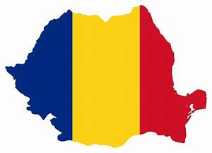 Romania Flag Free Colouring Pages