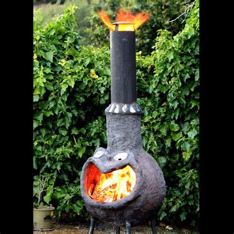 chiminea diy diy outdoor fireplace