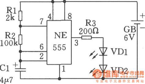Low Frequency Oscillator Flashing Shine Circuit