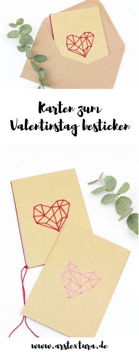 valentinstag geschenk selber basteln valentinstagskarten mit geometrischem herz