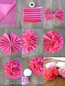 Fleur En Papier Serviette : wedding time 2 les fleurs pivoines en serviette d 39 une chose l 39 autre decoration comode ~ Melissatoandfro.com Idées de Décoration