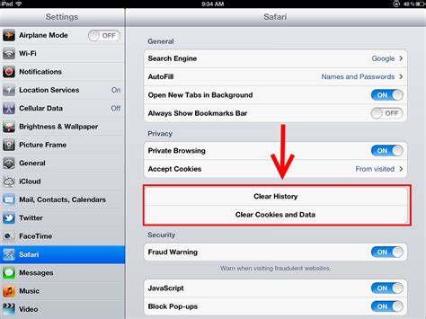 how to delete cookies on iphone clear the history and cookies from safari on your iphone