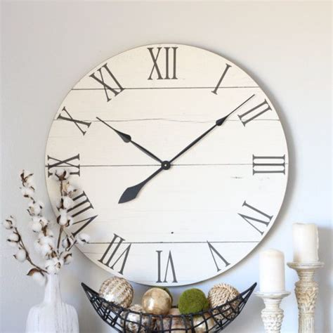 Buying a wall clock for your home can be a very challenging task because you want this product to look stylish and complement the interior decoration of your home. Large wall clock - Farmhouse living room decor - Above ...