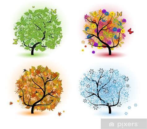 Im Herbst Und Winter by Fototapete Baum Der Jahreszeiten Fr 252 Hling Sommer