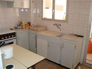 Peindre Meuble Cuisine : peinture meuble cuisine lisse peinture ~ Melissatoandfro.com Idées de Décoration