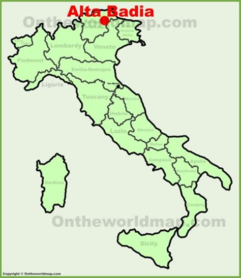 Alta Badia Karte