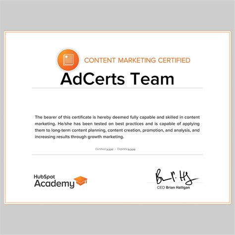 Content Marketing Certification by 100 Pass Hubspot Content Marketing Certification