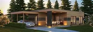 Maison Bois Contemporaine : maison moderne en bois pas cher ~ Preciouscoupons.com Idées de Décoration