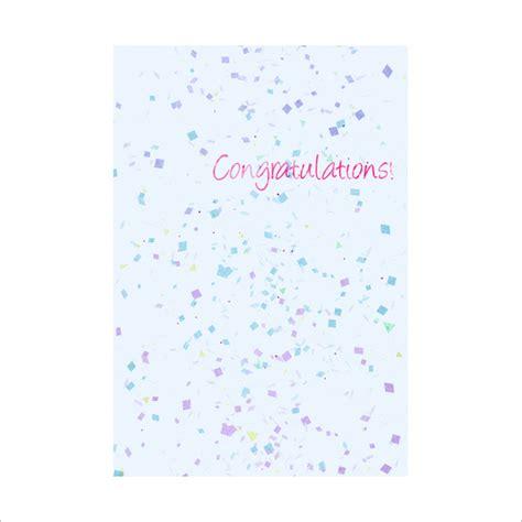 congratulations card template   sample