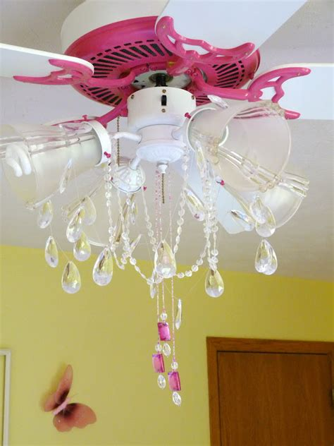 Diy Shabby Chic Ceiling Fan by Creations Pink Ceiling Fan Chandelier Makeover