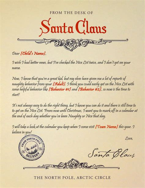 letter to child about santa i think i m as ready as i m santa s there is still time to get on the list letter 70020