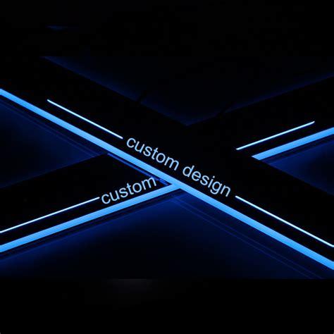 custom led light illuminated door sill scuff plate guard