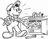 Plumbing Drawing Plumber Getdrawings sketch template