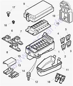 Mgf And Mg Tf Parts Catalogue  Front Bonnet Fuse Box