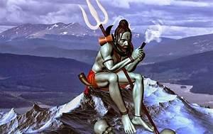 Lord Shiva Smoking Ganja Animated