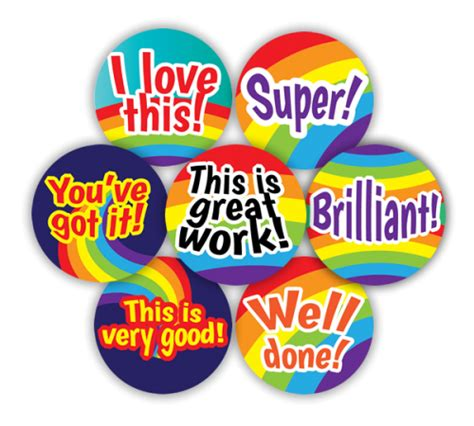 19mm effort and praise stickers superstickers