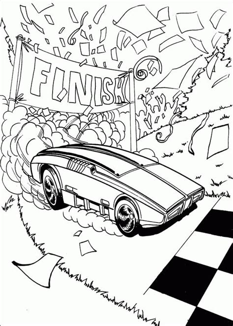 printable hot wheels coloring pages  kids
