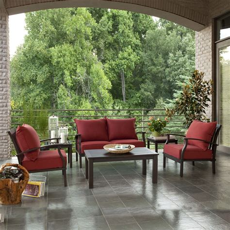 allen and roth patio furniture allen roth 2 gatewood outdoor loveseat and coffee