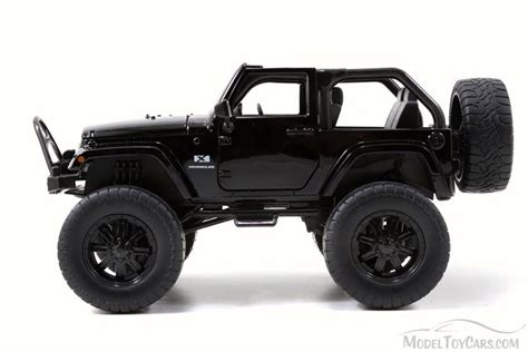 toy jeep car 2007 jeep wrangler off road edition black jada toys