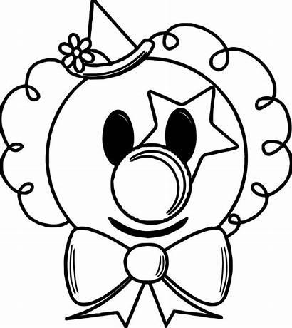 Clown Coloring Face Cartoon Drawing Getdrawings