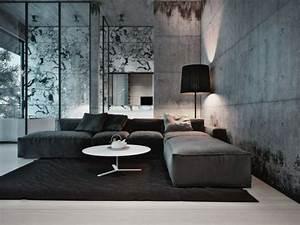 interieurs modernes en beton et bois une alliance With tapis de sol avec renover canapé d angle