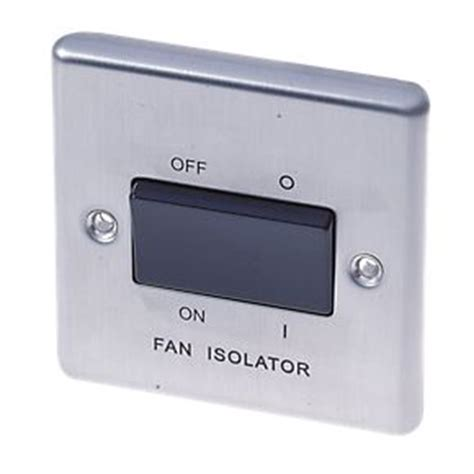 Lap Gang Pole Fan Isolator Switch Brushed