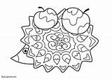Coloring Hedgehogs Hedgehog Printable Autumn Activity Fall sketch template