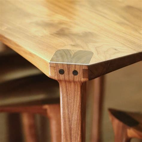dining table leg joint exposed joinery called  maloof