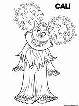 Coloring Smallfoot Pages Printable Yeti Cali Drawing Cute Yet Print Smiling Hand Prints Fun Adults sketch template