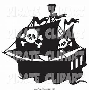 Pirate Ship Black And White Clipart - Clipart Suggest