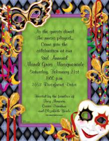 Mardi Gras Party Invitations Templates Free
