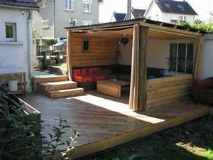 Terrasse Avec Palette : terrasse pergola palette ~ Melissatoandfro.com Idées de Décoration