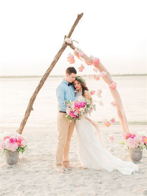 20 Beach Wedding Ceremony Decor Ideas SouthBound Bride
