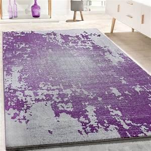 Vintage Teppich Rund : designer teppich wohnzimmer vintage mit splash muster in grau lila meliert wohn und schlafbereich ~ Indierocktalk.com Haus und Dekorationen