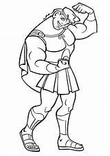 Coloring Strong Strongman sketch template