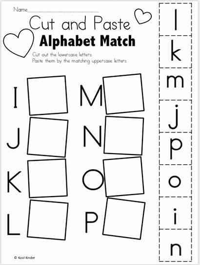 Alphabet Valentine Worksheets Cut Paste Madebyteachers Valentines