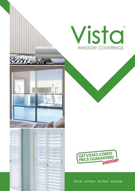 Vista Blinds by Vista Blinds Curtains Brochure May 2014