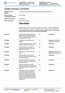 Safety Harness Inspection Form