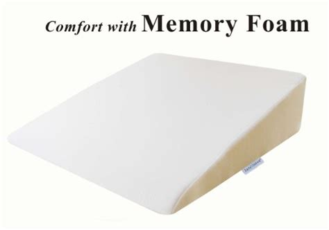 foam wedge pillow intevision foam wedge bed pillow 26 x 25 x 7 5 with