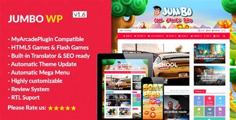 Jumbo  Wordpress Magazine & Arcade Theme For Html5 Games By Tiguan